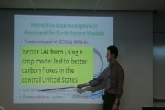Improved Land-Atmosphere Fluxes From Including Interactive Crop Management In The Community Earth System Model