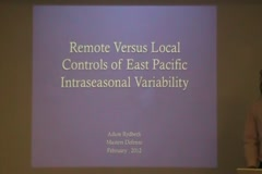 Remote Versus Local Controls of East Pacific Intraseasonal Variability