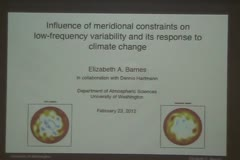 Influence of Meridional Constraints on Low-Frequency Variability and its Response to Climate Change