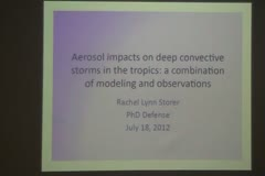 Aerosol impacts on deep convective storms in the tropics: a combination of modeling and observations
