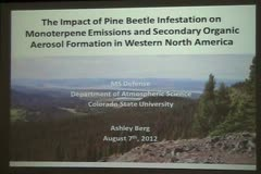 The Impact of Pine Beetle Kill on Monoterpene Emissions and Secondary Organic Aerosol Formation in Western North America