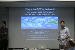 Why is the ITCZ in the Northern Hemisphere?  And why might it have shifted southward in the late 20th century?
