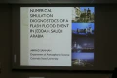 Numerical Simulation Diagnostics of a Flash Flood Event in Jeddah, Saudi Arabia