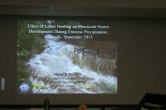 Effect of Latent Heating on Mesoscale Vortex Development During Extreme Precipitation: Colorado, September 2013