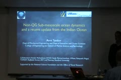 Non-QG Sub-mesoscale ocean dynamics and a recent update from the Indian Ocean