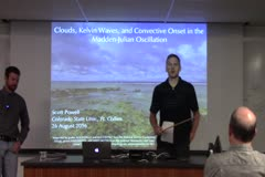 Clouds, Kelvin Waves, and Convective Onset in the  Madden-Julian Oscillation