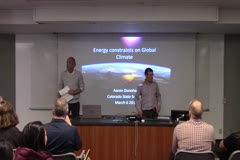 Energetic constraints on global climate